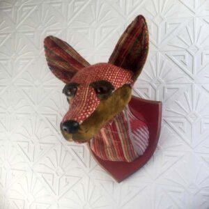velvet fox faux taxidermy