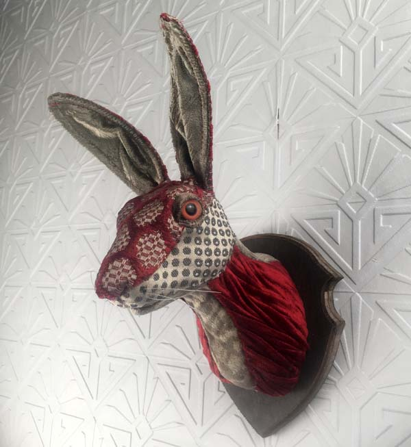 hare faux taxidermy